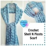 Crochet Shell N Picots Scarf by Erangi Udeshika of Crochet For You