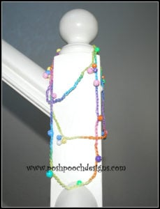 Beaded Necklace with Lizbeth Thread by Sara Sach of Posh Pooch Designs