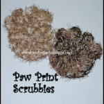 Paw Print Scrubby by Sara Sach of Posh Pooch Designs