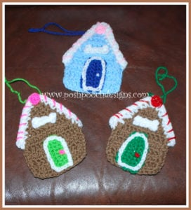 Gingerbread Dog House Ornament by Sara Sach of Posh Pooch Designs