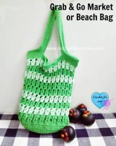 Grab & Go Market or Beach Bag by Erangi Udeshika of Crochet For You