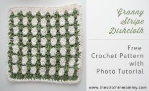 Granny Stripe Dishcloth by The Stitchin' Mommy