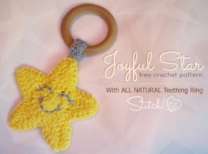 Joyful Star Teething Ring by Stitch11