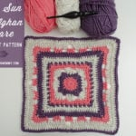 Rising Sun 12 Inch Afghan Square by The Stitchin' Mommy