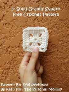 3 Inch Solid Granny Square by EyeLoveKnots for The Stitchin' Mommy