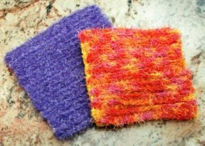 Scrubby Crochet Dishcloth by Petals to Picots