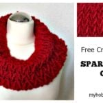 Sparkle Ruby Cowl by My Hobby is Crochet