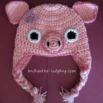 Pig Ear Flap Hat by The Enchanted Lady