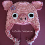 Pig Ear Flap Hat by The Enchanted Ladybug