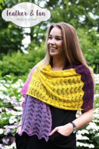 Feather and Fan Alpaca Shawl by Haak Maar Raak
