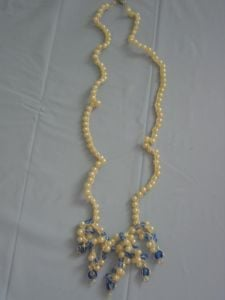 Pearl Drop Necklace by Donna's Crochet Designs