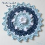 Picot Crochet Doily by Rhelena of CrochetN'Crafts
