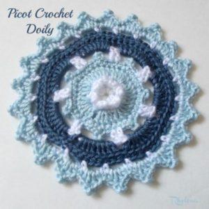 Picot Crochet Doily by Rhelena of CrochetN'Crafts