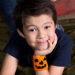 Halloween Pumpkin Cuff by K J Hay for Red Heart