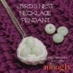 Bird's Nest Necklace Pendant by Moogly