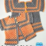 Crochet Lil Darlin Baby Cardigan Pattern in Multiple Sizes by Erangi Udeshika of Crochet For You