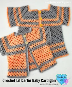 Crochet Lil Darlin Baby Cardigan Pattern in Multiple Sizes by Erangi Udeshika of Crochet For You