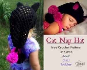 Cat Nap Hat by Stitch11