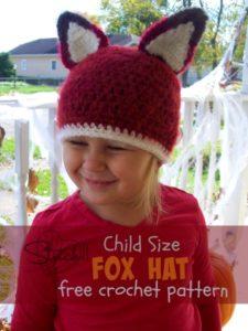 Child Size Fox Hat by Stitch11