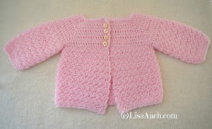 Baby Cardigan by Free Crochet Patterns and Designs by LisaAuch