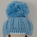 Ribbed Baby Hat by Free Crochet Patterns and Designs by LisaAuch