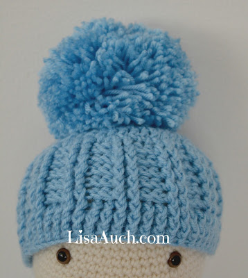 Free Crochet Pattern Baby Pom Pom Hat : Ribbed Baby Hat by Free Crochet Patterns and Designs by ...