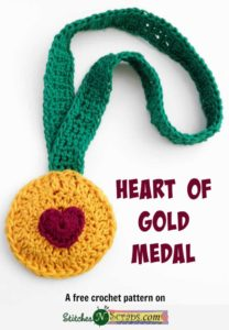Heart of Gold Medal by Stitches 'N' Scraps
