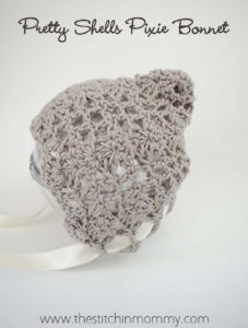 Pretty Shells Newborn Pixie Bonnet by The Stitchin' Mommy