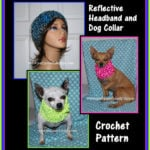 Reflective Headband and Dog Collar by Sara Sach of Posh Pooch Designs