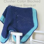 Cluster Color Blocked Preemie Blanket by Cream Of The Crop Crochet