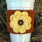 Autumn Fall Flower Coffee by Enchanted-Ladybug.com