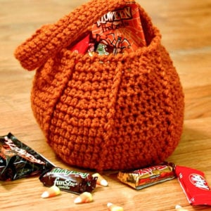 Pumpkin Trick or Treat Bag by Petals to Picots