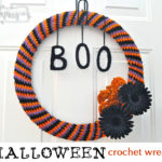 Halloween Crochet Wreath Tutorial by My Merry Messy Life
