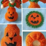 Miss Bear as Pumpkin Fairy by Donna's Crochet Designs