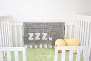 Get Some ZZZ's Crochet Baby Blanket by One Dog Woof