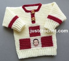Boys Sweater by JustCrochet.com