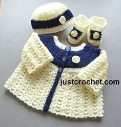 Matinee Coat Set by JustCrochet.com