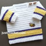 Square Neck Sweater by JustCrochet.com