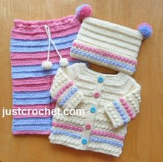 Three Piece Outfit by JustCrochet.com