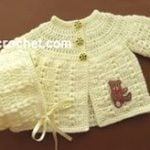 Preemie Coat and Bonnet by JustCrochet.com