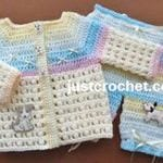 Puff Stitch Outfit by JustCrochet.com