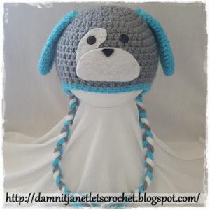 Doggy Earflap Beanie (Newborn - Toddler) by Damn it Janet, Let's Crochet