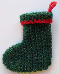 Mini Cuffed Christmas Stocking by My Recycled Bags