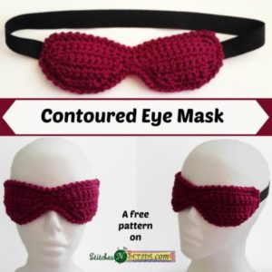 Contoured Eye Mask by Stitches 'N' Scraps