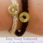 Easy Peasy Buttoned I-Cord Bracelet by Marie Segares/Underground Crafter