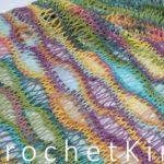 Entwined Helix Scarf or Cowl by Kim Guzman of CrochetKim