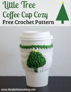 Little Tree Coffee Cup Cozy by The Stitchin' Mommy