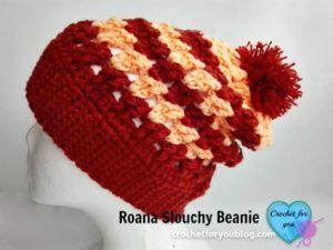 Roana Slouchy Beanie by Erangi Udeshika of Crochet For You