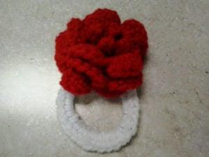 Rose Scrunchie by Crochet Fanatic