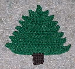 Christmas Tree Coaster by Crochet 'N' More